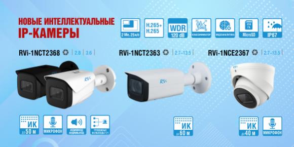 2 Мп интеллектуальные IP-камеры пополнили ассортимент RVi