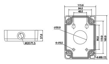 Монтажная коробка для настенного кронштейна RVi-MB1