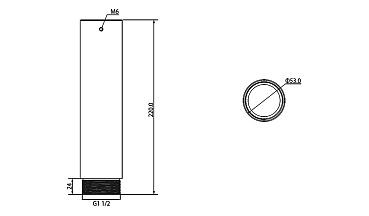 Удлинитель к потолочному кронштейну RVi-BHL