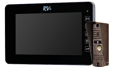 Комплект RVi-VD10-21M (Black) + ADS-700 (Copper)